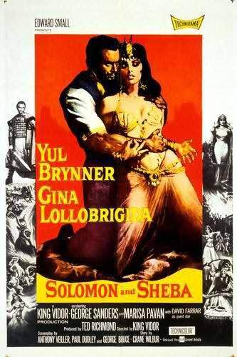 """POSTER of 1959 Hollywood movie """"Solomon and Sheba."""" King Haile Selassie claimed to have hailed from the Solomonic Dynasty."""