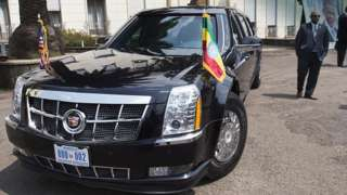 A diplomatic limousine used by President Obama in Addis Ababa (27 July 2015)