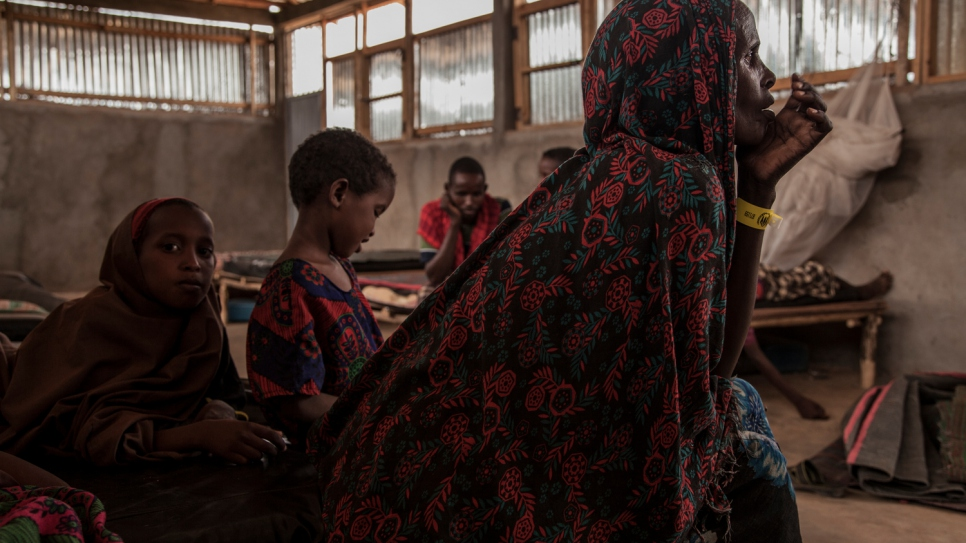 Aisha left her husband and parents behind, determined to save her children's lives.