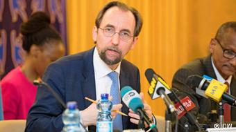 Zeid Ra'ad Al Hussein is the United Nations High Commissioner for Human Rights Credit: (DW)