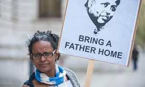 Yemi Hailemariam outside the FCO.