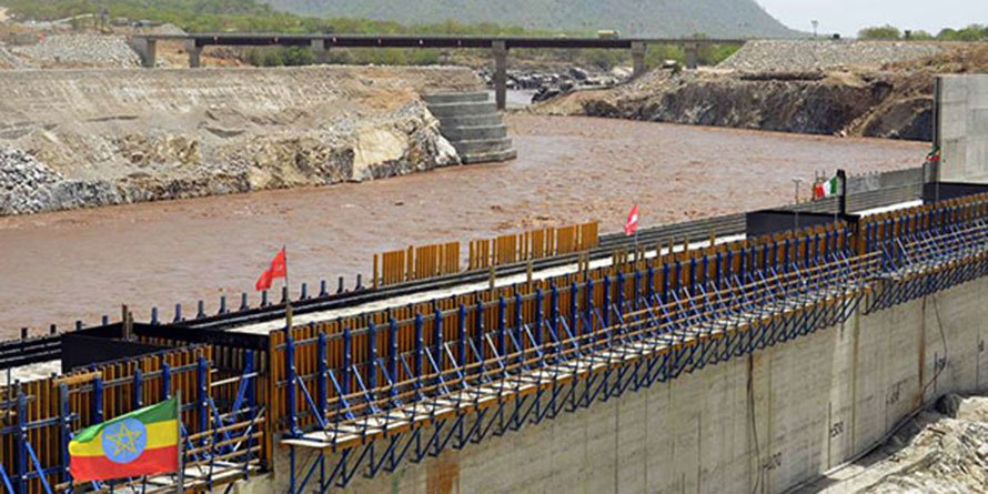 Ethiopia's Grand Renaissance dam on the Blue Nile. Addis accuses unnamed parties in the region of attempting to undermine the cooperation between the Nile Basin Initiative (NBI) states. AFP PHOTO | WILLIAM LLOYD GEORGE