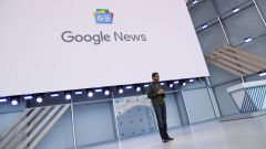 Google CEO Sundar Pichai speaks on stage during the annual Google I/O developers conference in Mountain View, California, May 8, 2018. REUTERS/ Stephen Lam - RC1A3A983C00