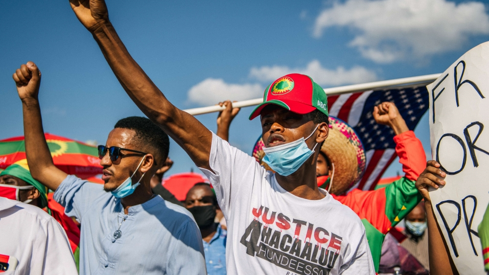 Ethiopian Oromo Community Holds March For Justice After Death Of Hachalu Hundessa